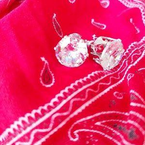 DIAMOND CUBIC ZIRCONIA GRADE AAA STUD EARRINGS